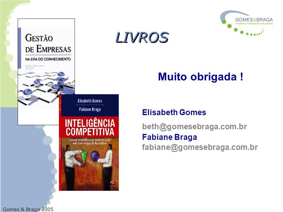 LIVROS Muito obrigada ! Elisabeth Gomes beth@gomesebraga.com.br