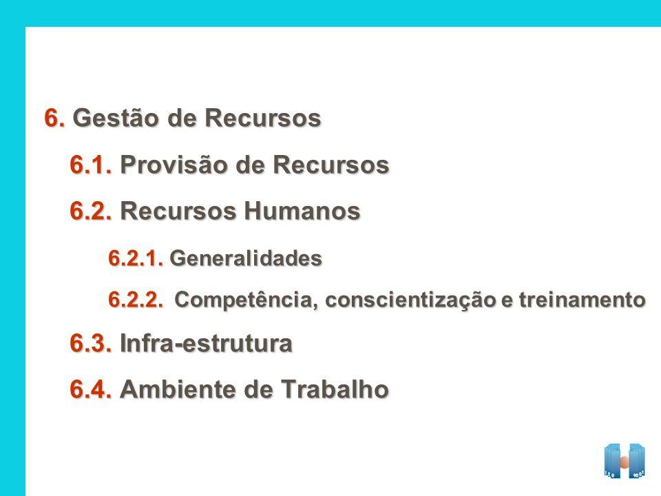6. Gestão de Recursos 6.1. Provisão de Recursos