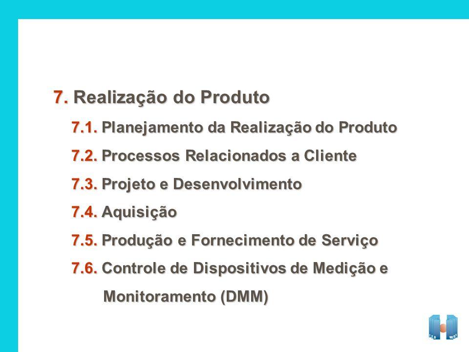 7. Realização do Produto 7.1. Planejamento da Realização do Produto