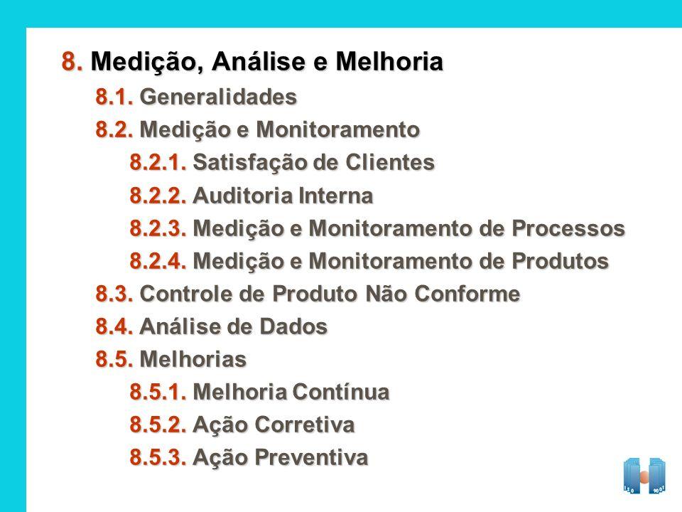 8. Medição, Análise e Melhoria