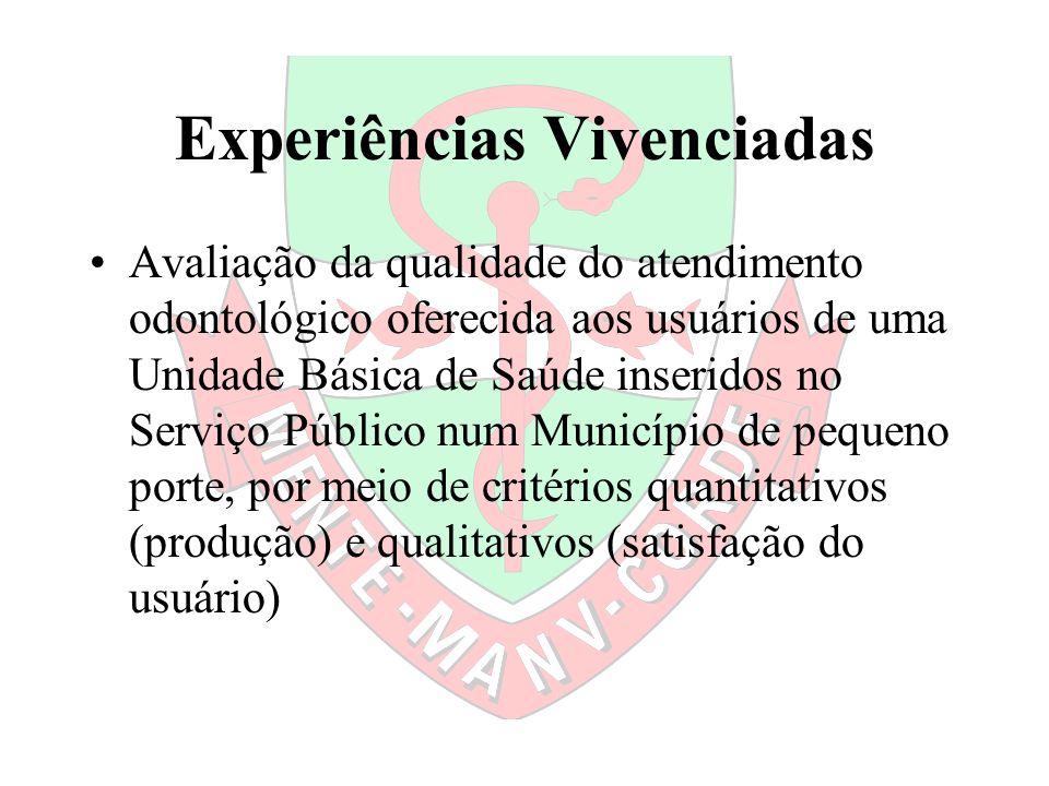 Experiências Vivenciadas