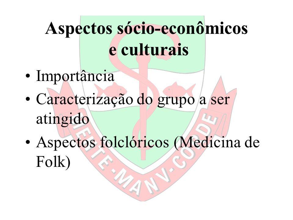 Aspectos sócio-econômicos e culturais