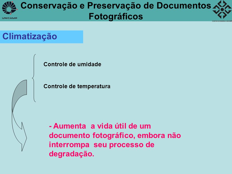 Conservação e Preservação de Documentos Fotográficos