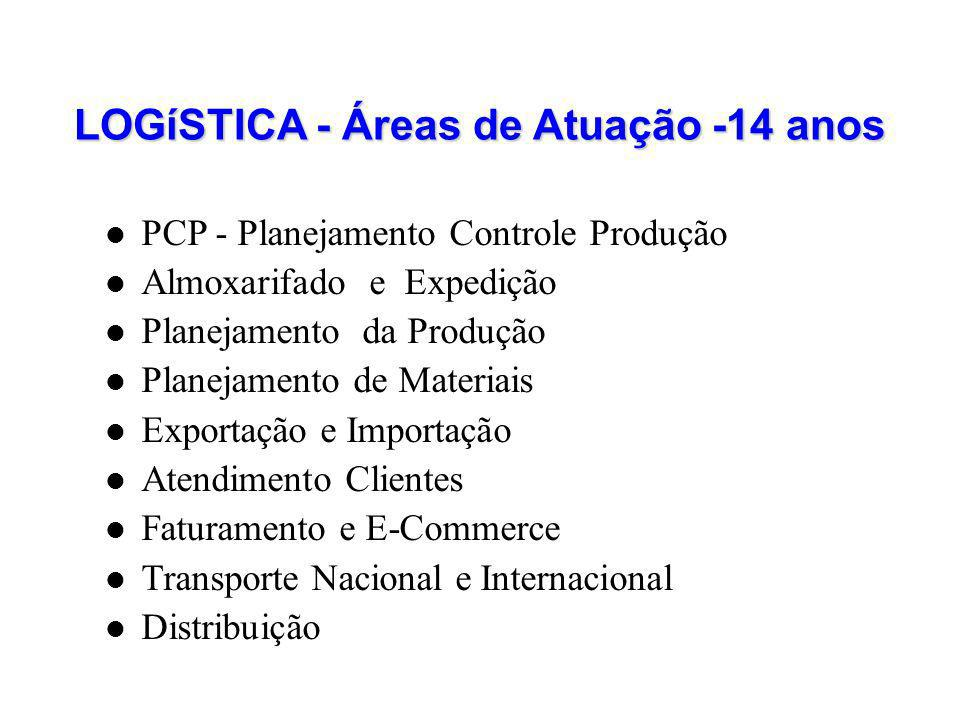LOGíSTICA - Áreas de Atuação -14 anos