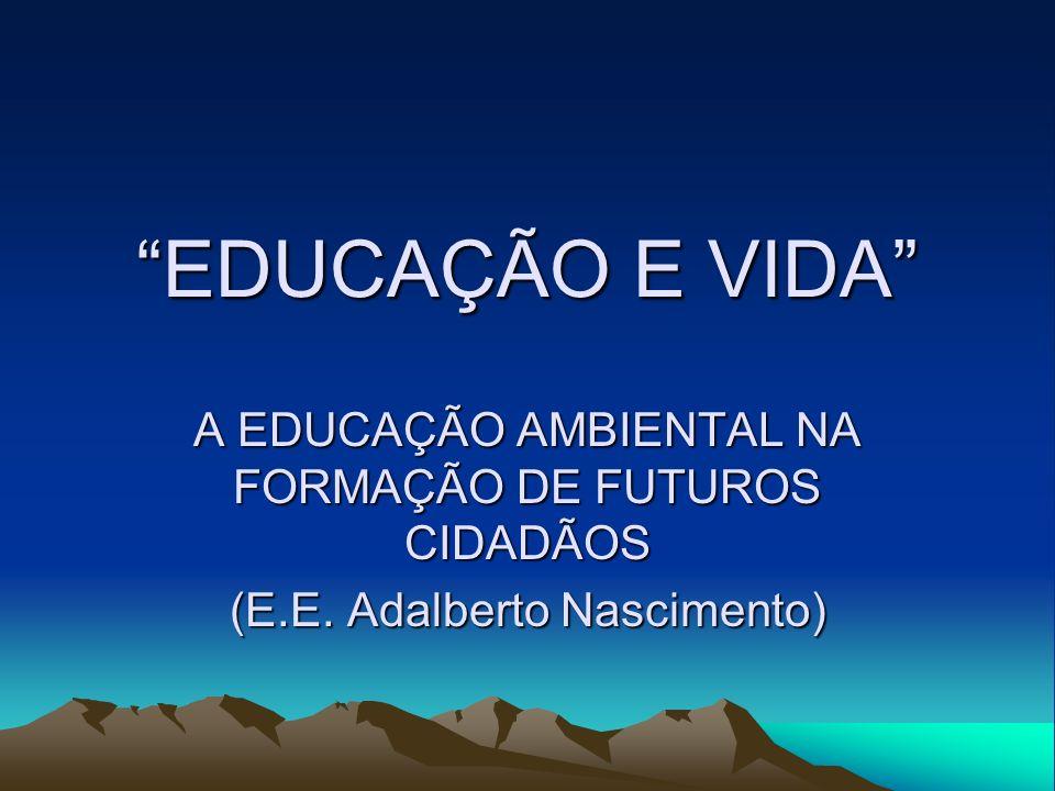 EDUCAÇÃO E VIDA A EDUCAÇÃO AMBIENTAL NA FORMAÇÃO DE FUTUROS CIDADÃOS