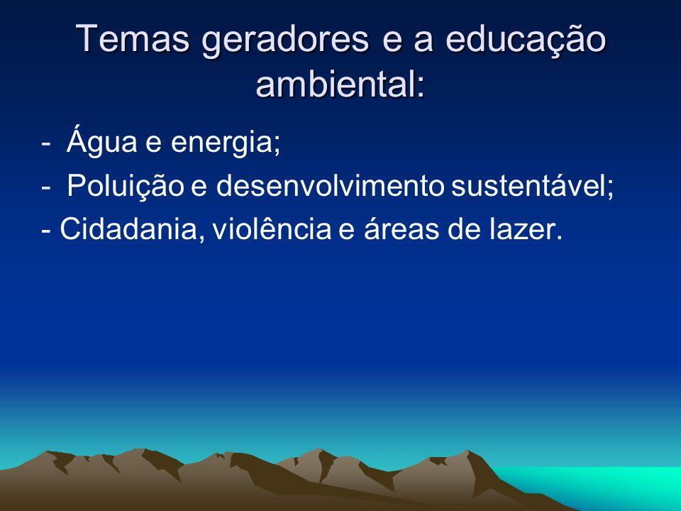 Temas geradores e a educação ambiental: