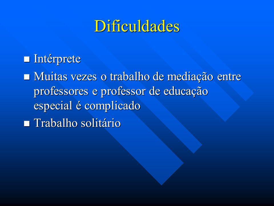 Dificuldades Intérprete