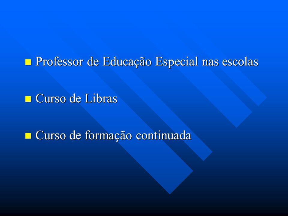 Professor de Educação Especial nas escolas