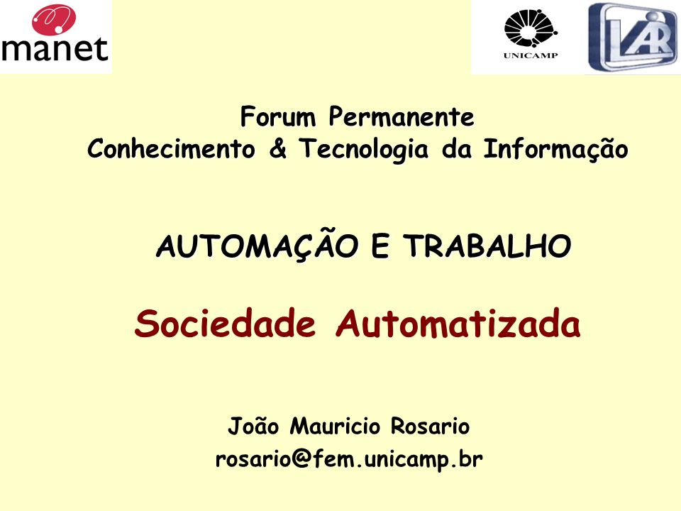 João Mauricio Rosario rosario@fem.unicamp.br