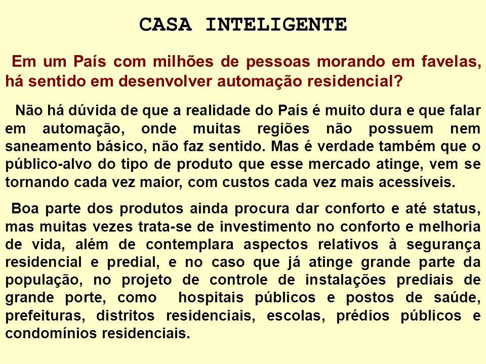 CASA INTELIGENTE Em um País com milhões de pessoas morando em favelas, há sentido em desenvolver automação residencial