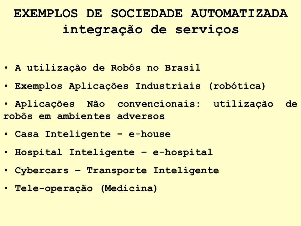 EXEMPLOS DE SOCIEDADE AUTOMATIZADA integração de serviços