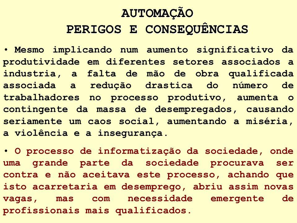 AUTOMAÇÃO PERIGOS E CONSEQUÊNCIAS