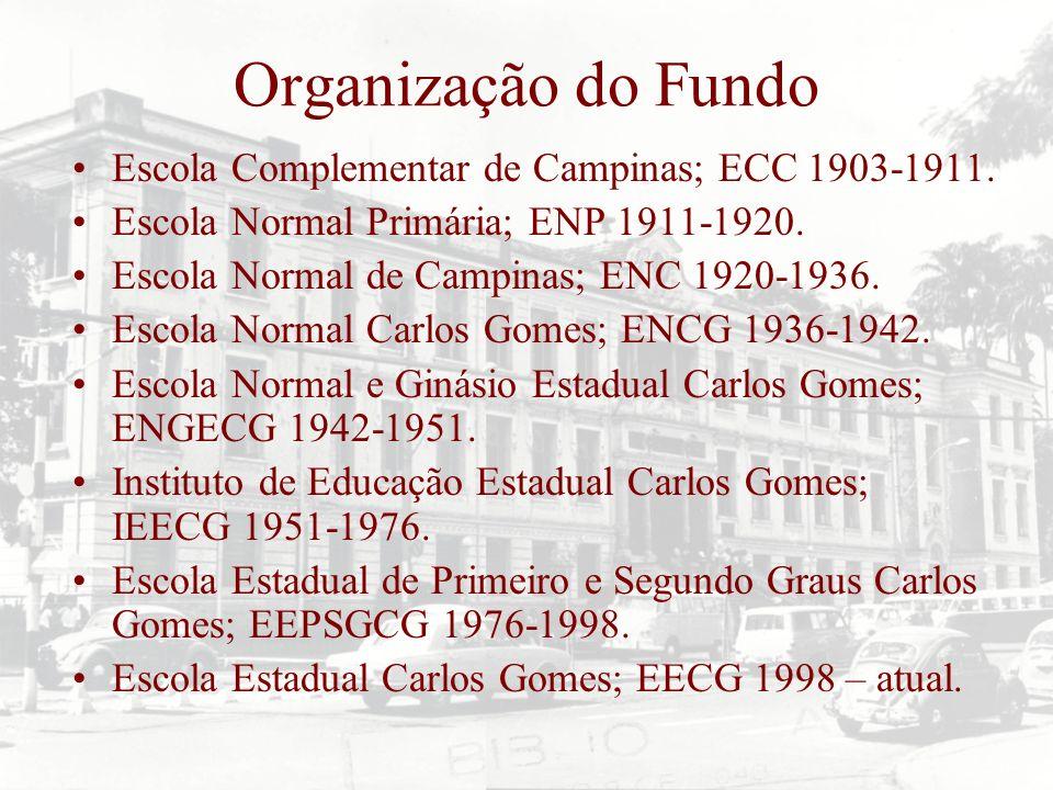 Organização do Fundo Escola Complementar de Campinas; ECC 1903-1911.