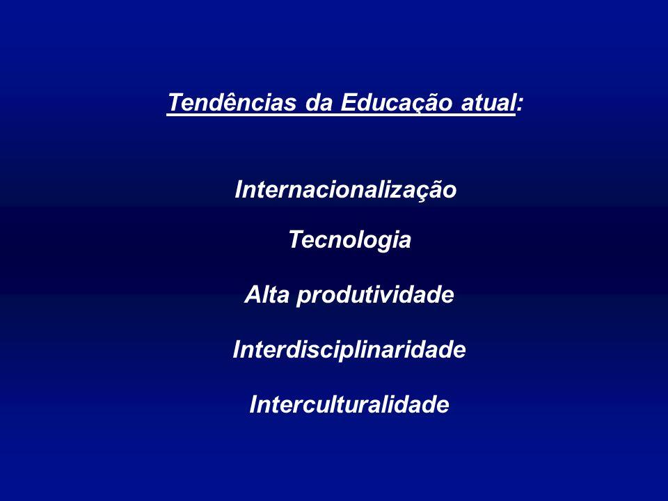Tendências da Educação atual: Internacionalização Tecnologia