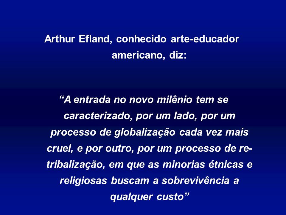 Arthur Efland, conhecido arte-educador americano, diz: