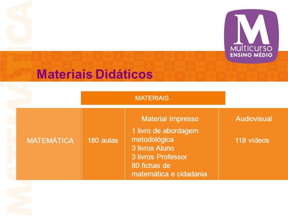 Materiais Didáticos Material Impresso Audiovisual 1 livro de abordagem