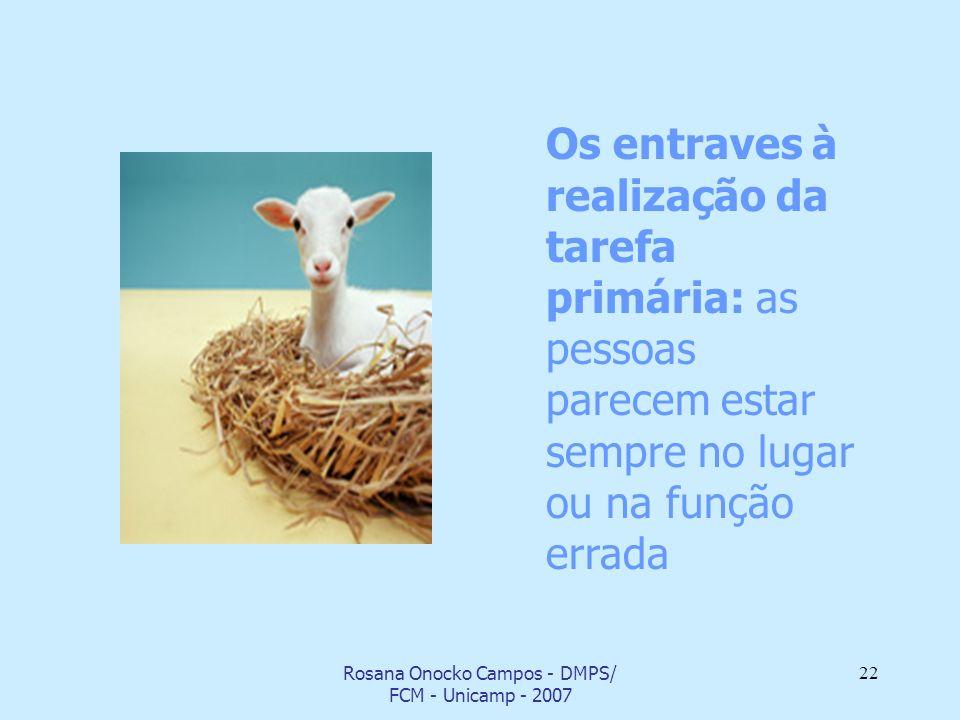 Rosana Onocko Campos - DMPS/ FCM - Unicamp - 2007