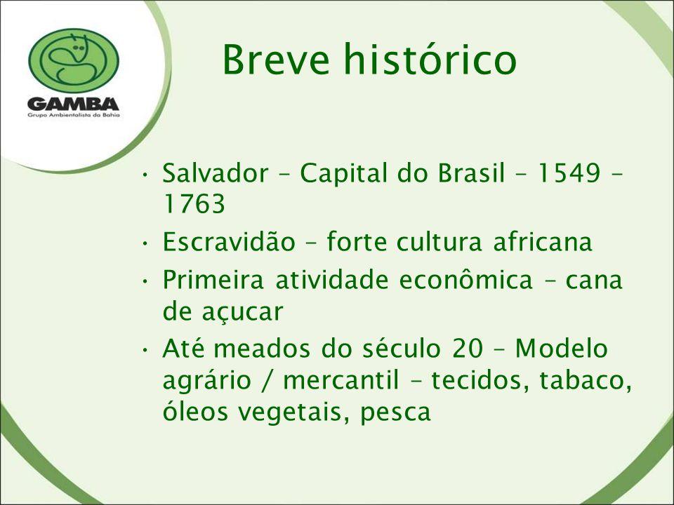 Breve histórico Salvador – Capital do Brasil – 1549 – 1763