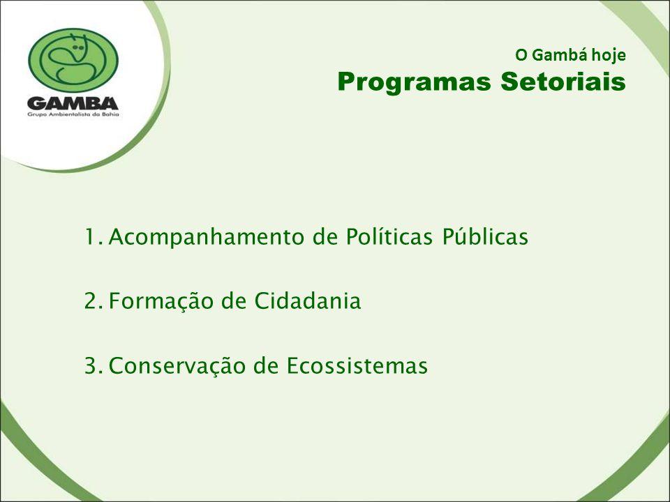 Programas Setoriais Acompanhamento de Políticas Públicas
