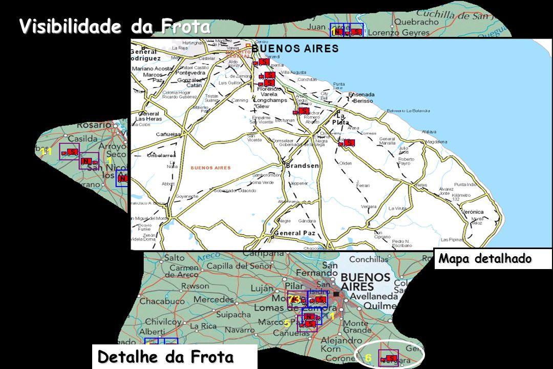 Visibilidade da Frota Mapa detalhado Detalhe da Frota