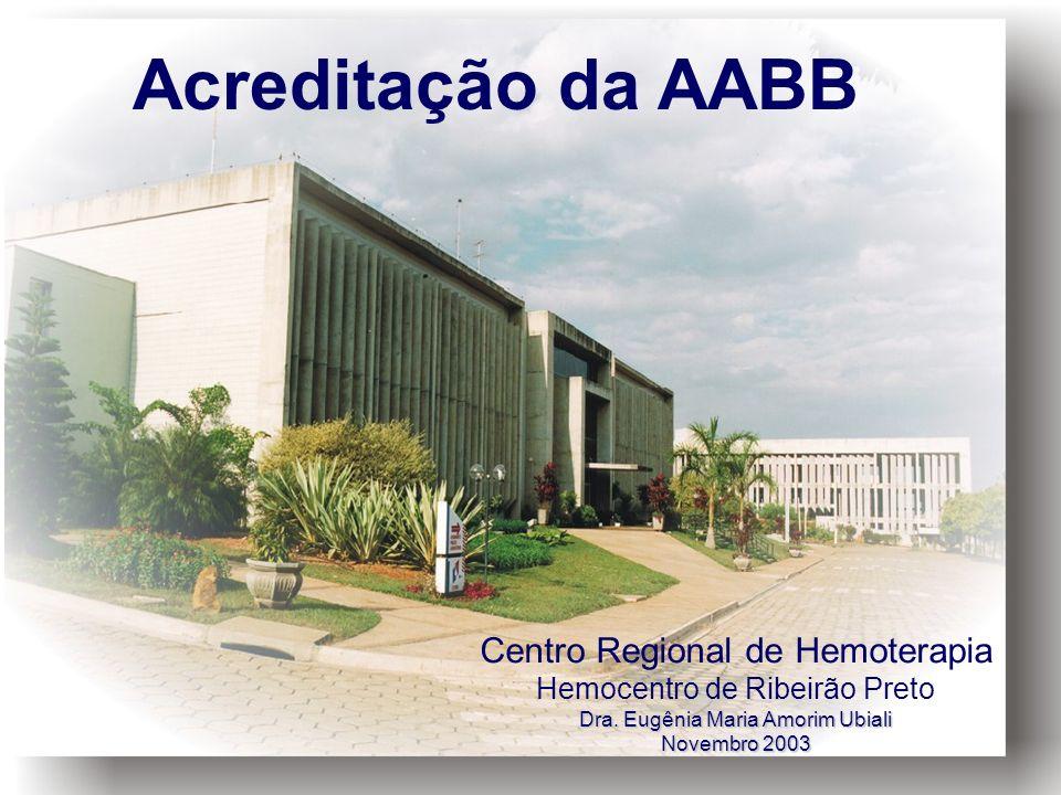 Acreditação da AABB Centro Regional de Hemoterapia