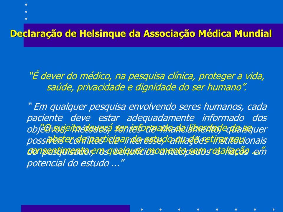 Declaração de Helsinque da Associação Médica Mundial