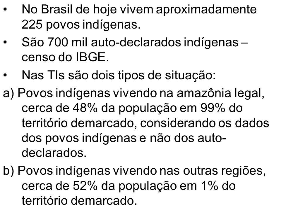 No Brasil de hoje vivem aproximadamente 225 povos indígenas.