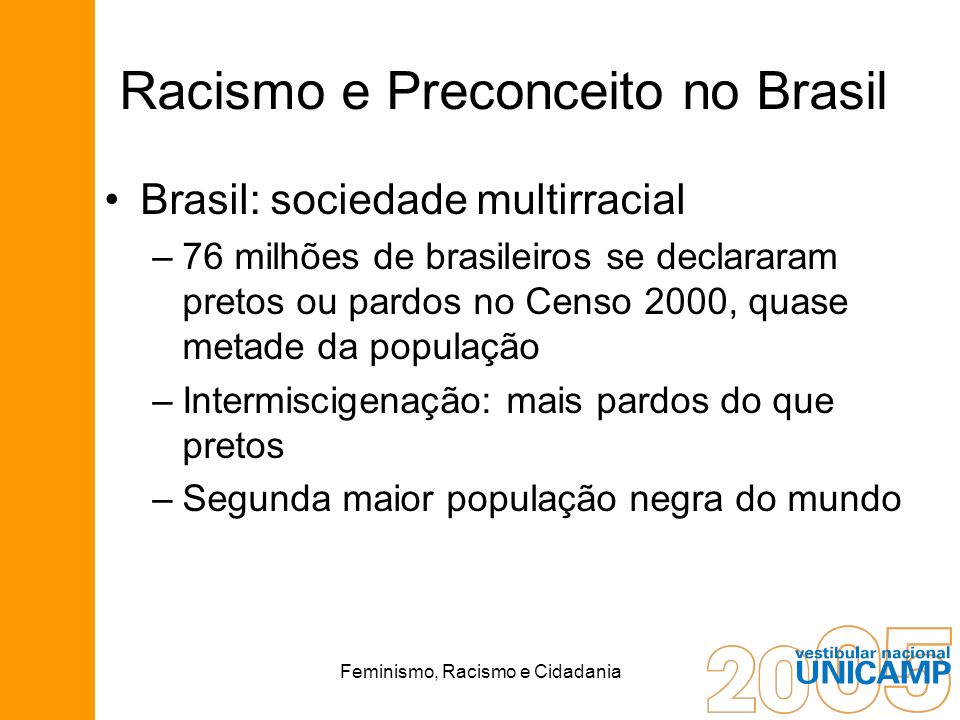 Racismo e Preconceito no Brasil
