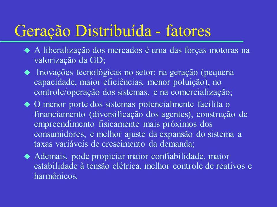 Geração Distribuída - fatores