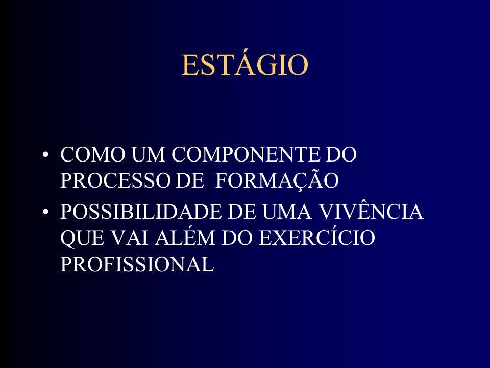 ESTÁGIO COMO UM COMPONENTE DO PROCESSO DE FORMAÇÃO