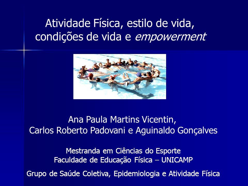 Atividade Física, estilo de vida, condições de vida e empowerment