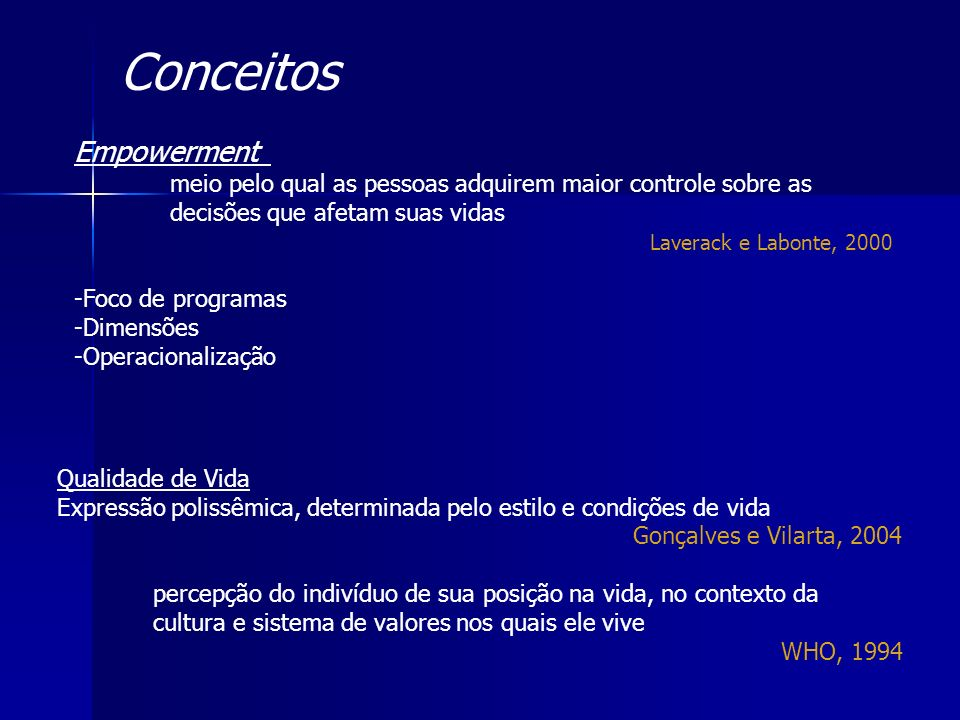 Conceitos Empowerment