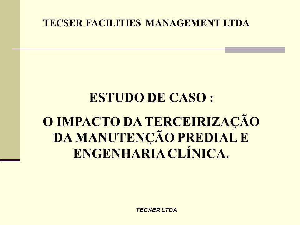 O IMPACTO DA TERCEIRIZAÇÃO DA MANUTENÇÃO PREDIAL E ENGENHARIA CLÍNICA.