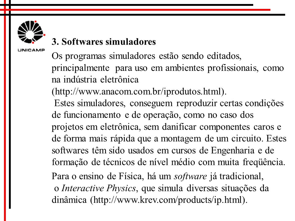 3. Softwares simuladores