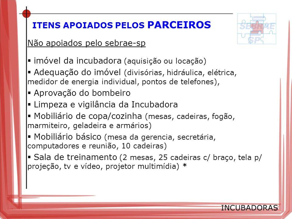 ITENS APOIADOS PELOS PARCEIROS