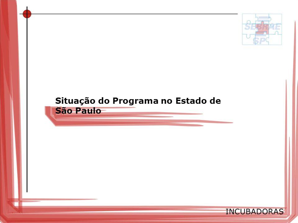 Situação do Programa no Estado de