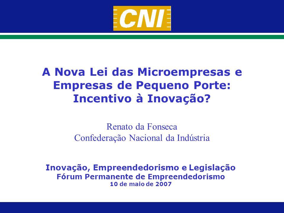 A Nova Lei das Microempresas e Empresas de Pequeno Porte: