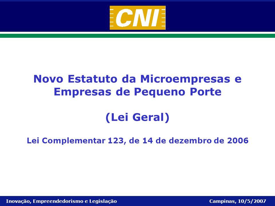 Novo Estatuto da Microempresas e Empresas de Pequeno Porte (Lei Geral)