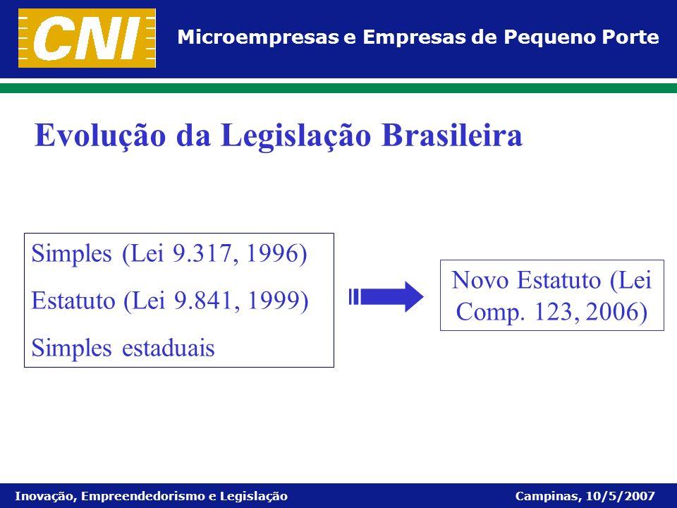 Novo Estatuto (Lei Comp. 123, 2006)