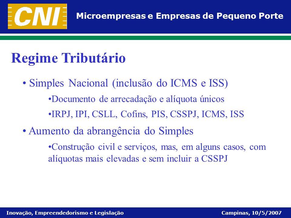 Regime Tributário Simples Nacional (inclusão do ICMS e ISS)