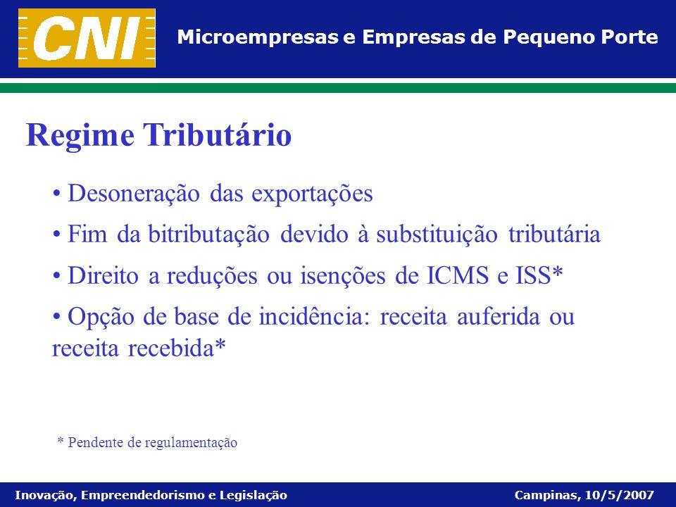 Regime Tributário Desoneração das exportações