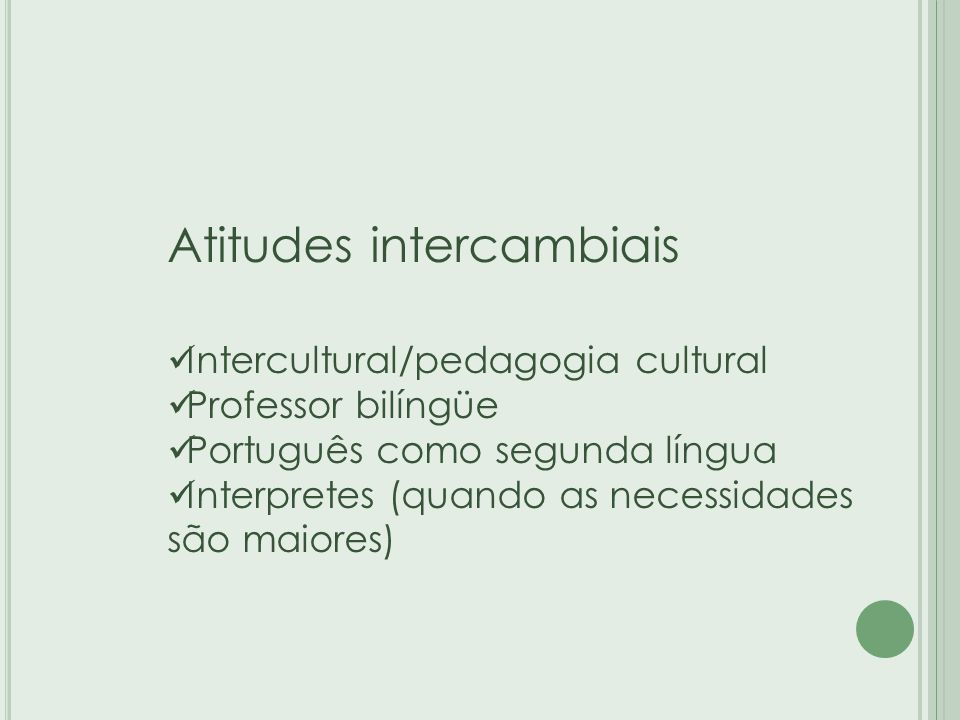 Atitudes intercambiais