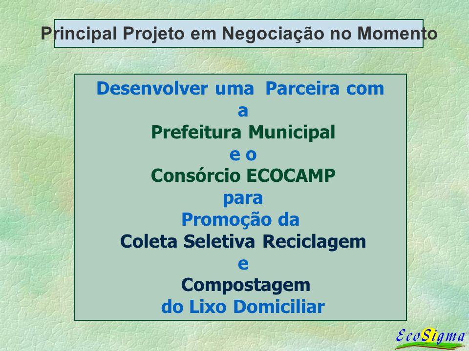 Principal Projeto em Negociação no Momento