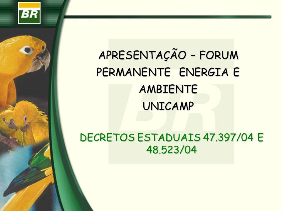 APRESENTAÇÃO – FORUM PERMANENTE ENERGIA E AMBIENTE UNICAMP