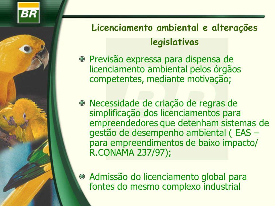 Licenciamento ambiental e alterações legislativas