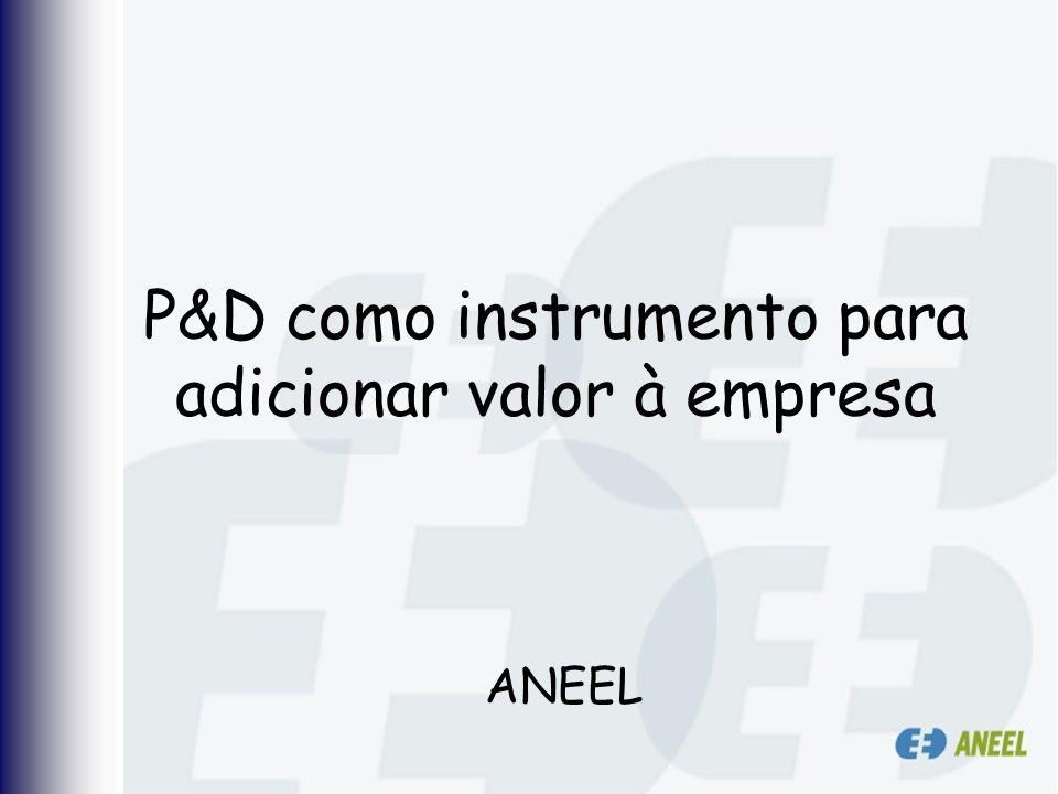 P&D como instrumento para adicionar valor à empresa