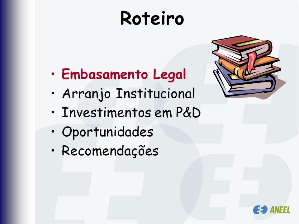 Roteiro Embasamento Legal Arranjo Institucional Investimentos em P&D