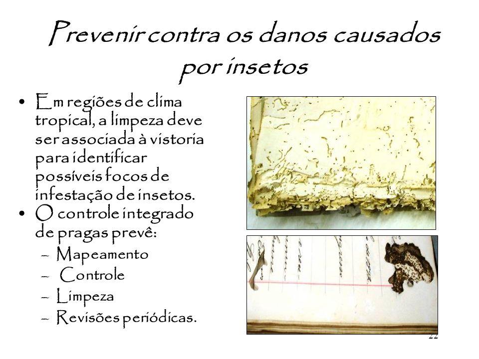 Prevenir contra os danos causados por insetos