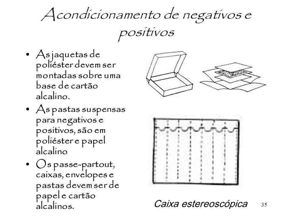 Acondicionamento de negativos e positivos