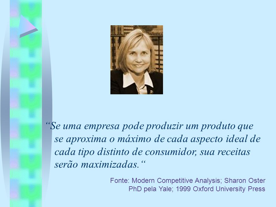 Fonte: Modern Competitive Analysis; Sharon Oster PhD pela Yale; 1999 Oxford University Press